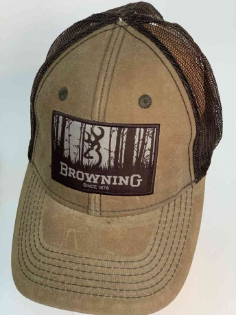 Коричневая бейсболка с логотипом Browning