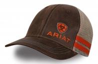 Коричневая бейсболка с логотипом Ariat