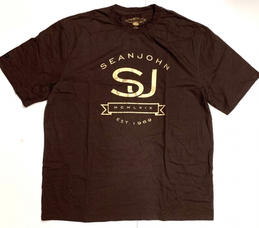 Коричневая футболка SEANJOHN