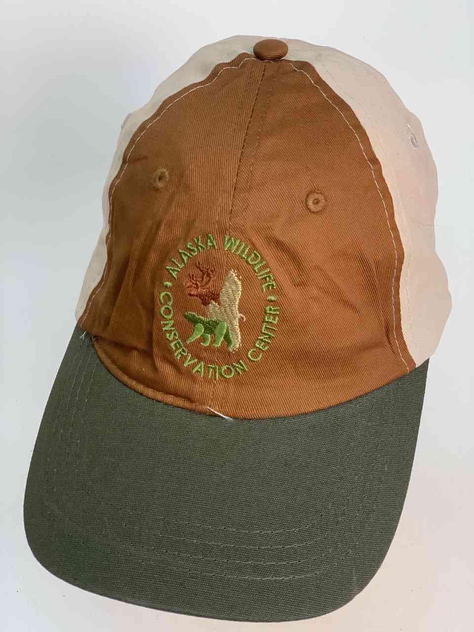Коричневая кепка с серым козырьком WILDLJFE ALASKA