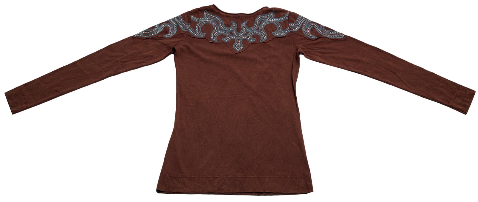 Купить коричневую кофточку бренда Panhandle Slim с принтованным орнаментом по специальной цене