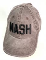 Коричневая летняя бейсболка NASH с черной вышивкой