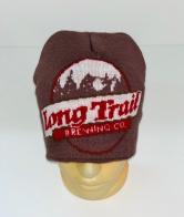 Коричневая шапка с крупным узором