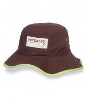 Коричневая сочная шляпа-панама Versace - заказать выгодно