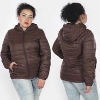 Коричневая женская куртка Rosa Thea (Италия).