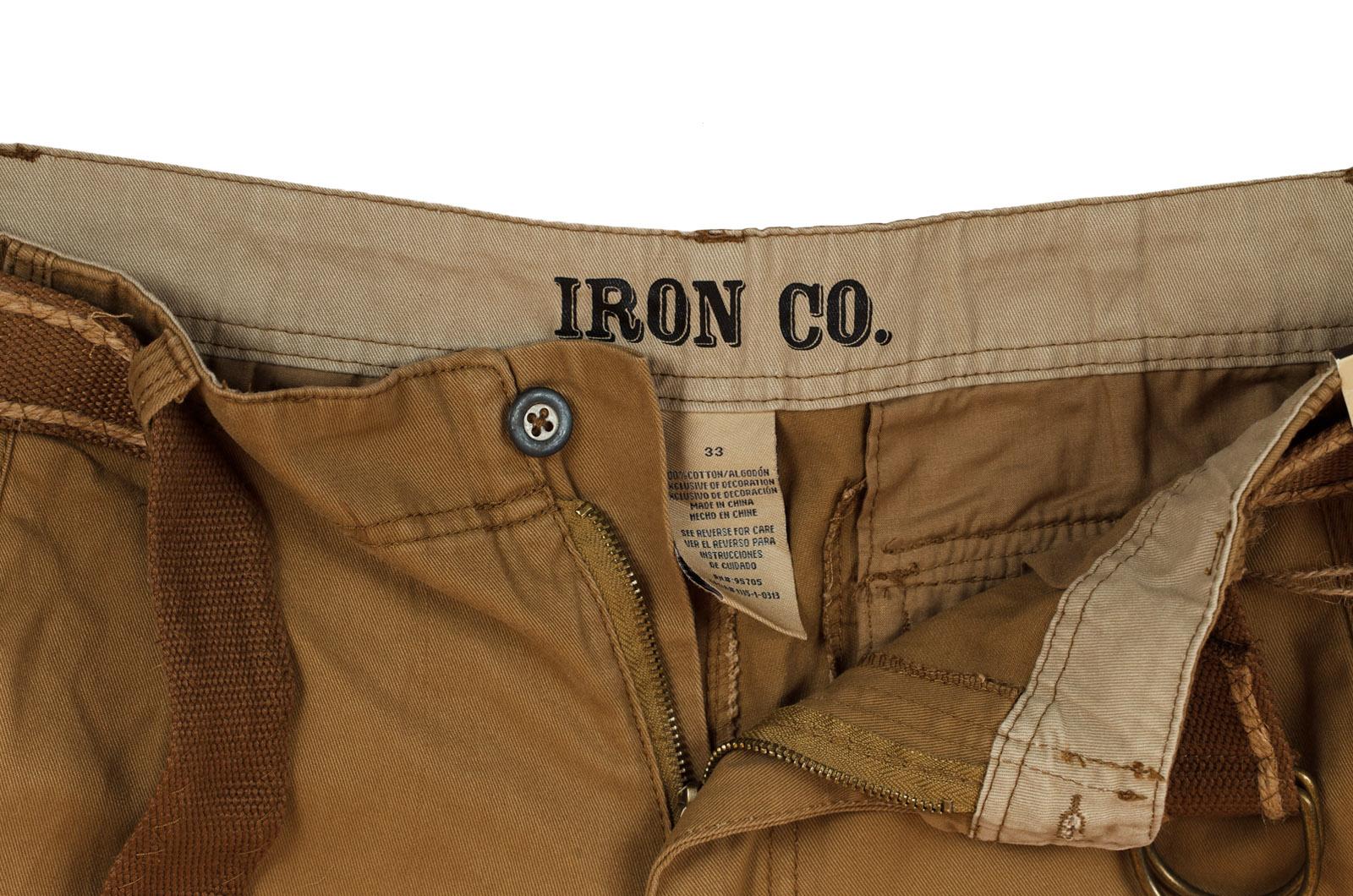 Коричневые шорты для мужчин (Iron Co., США) по лучшей цене