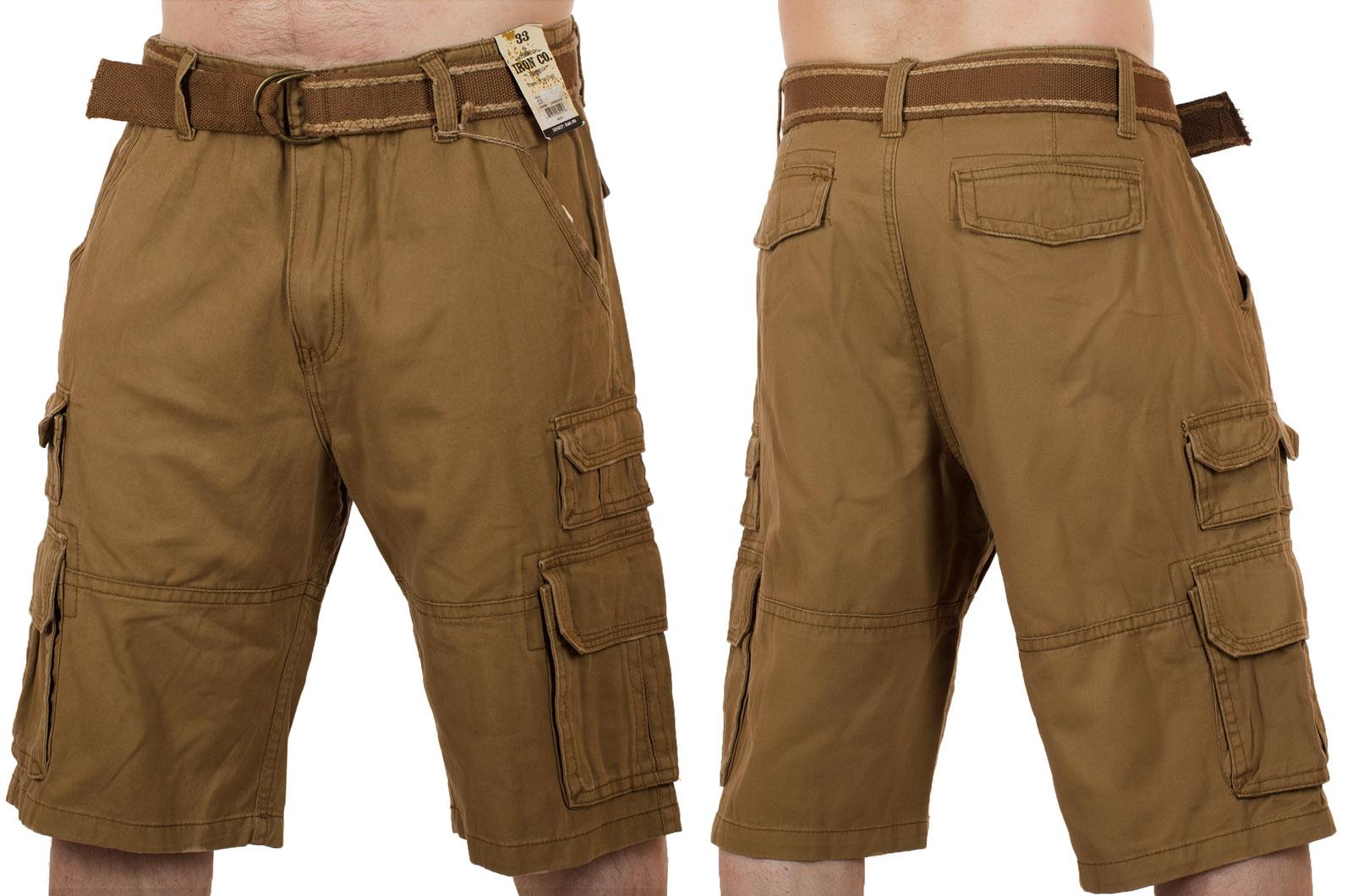 Коричневые шорты для мужчин (Iron Co., США) с доставкой