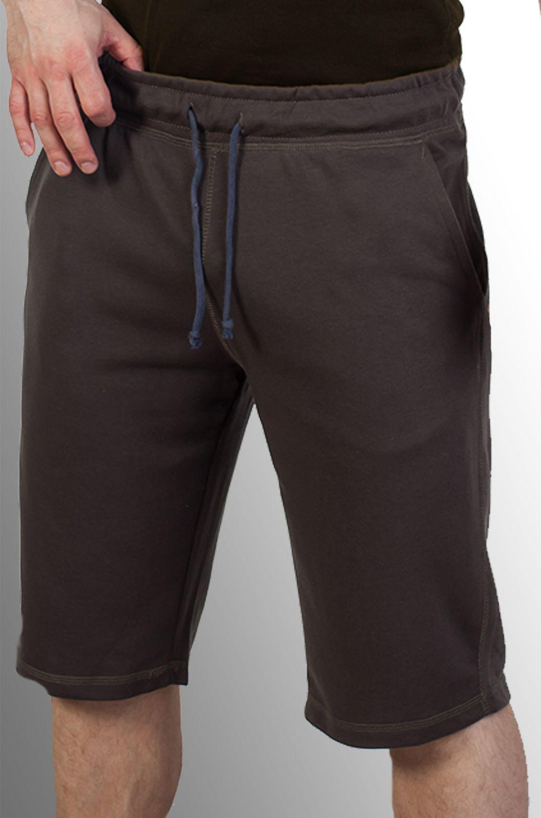 Коричневые шорты мужские из трикотажа