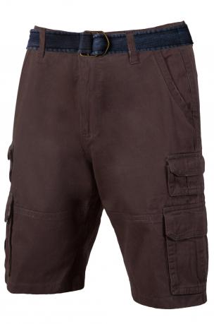 Коричневые шорты с ремнем - купить с доставкой