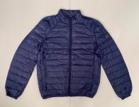 Короткая мужская куртка синего цвета