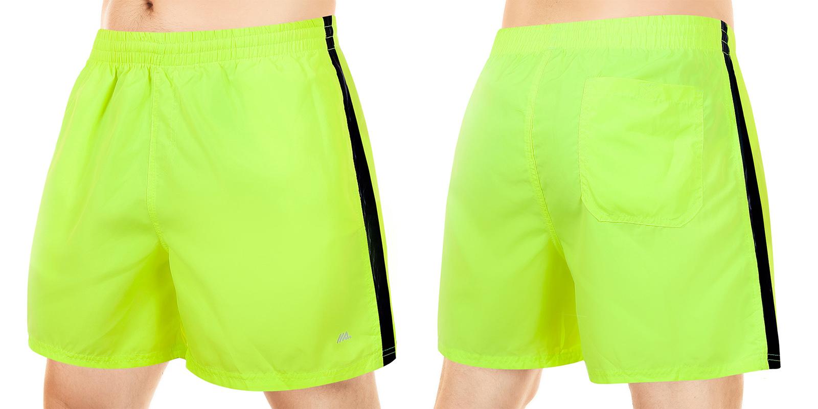 Заказать короткие мужские шорты ярко-лимонного цвета от MACE (Канада)