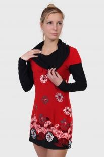 Короткое осеннее платье Le Grenier с длинными рукавами.