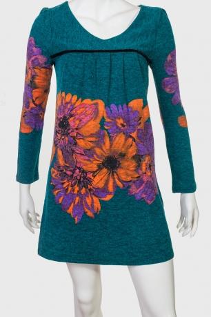 Короткое платье с флористическим принтом ZB.