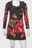Короткое платье с розами ZB