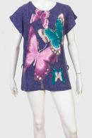 Короткое платье-туника с бабочками