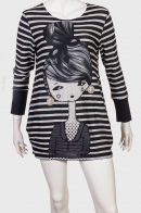 Короткое зауженное платье в полоску