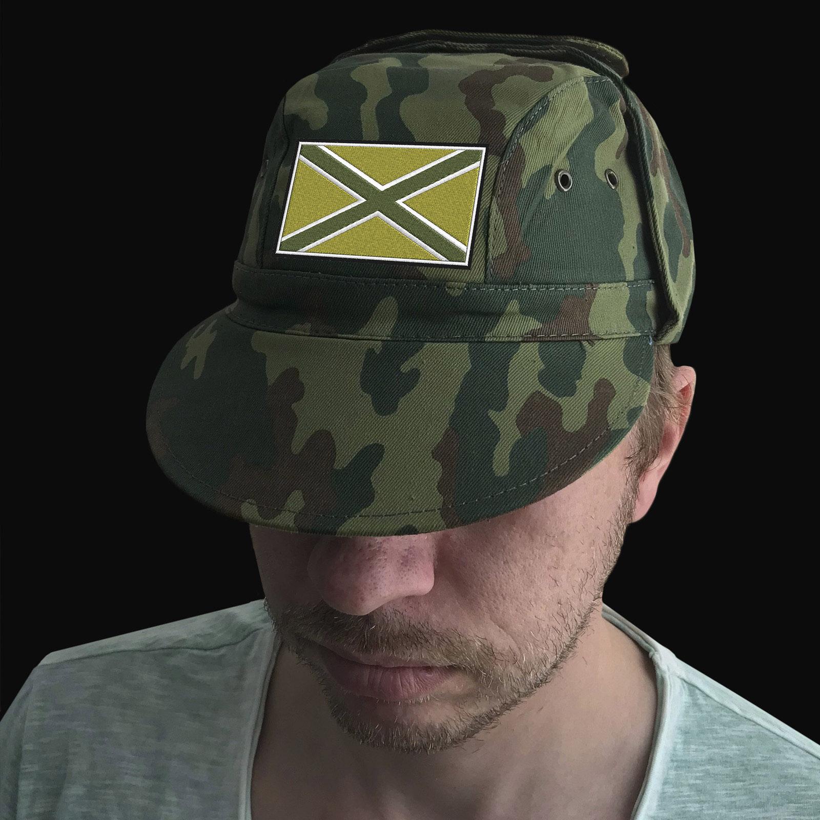 Котоновая милитари кепка с шевроном Новороссия