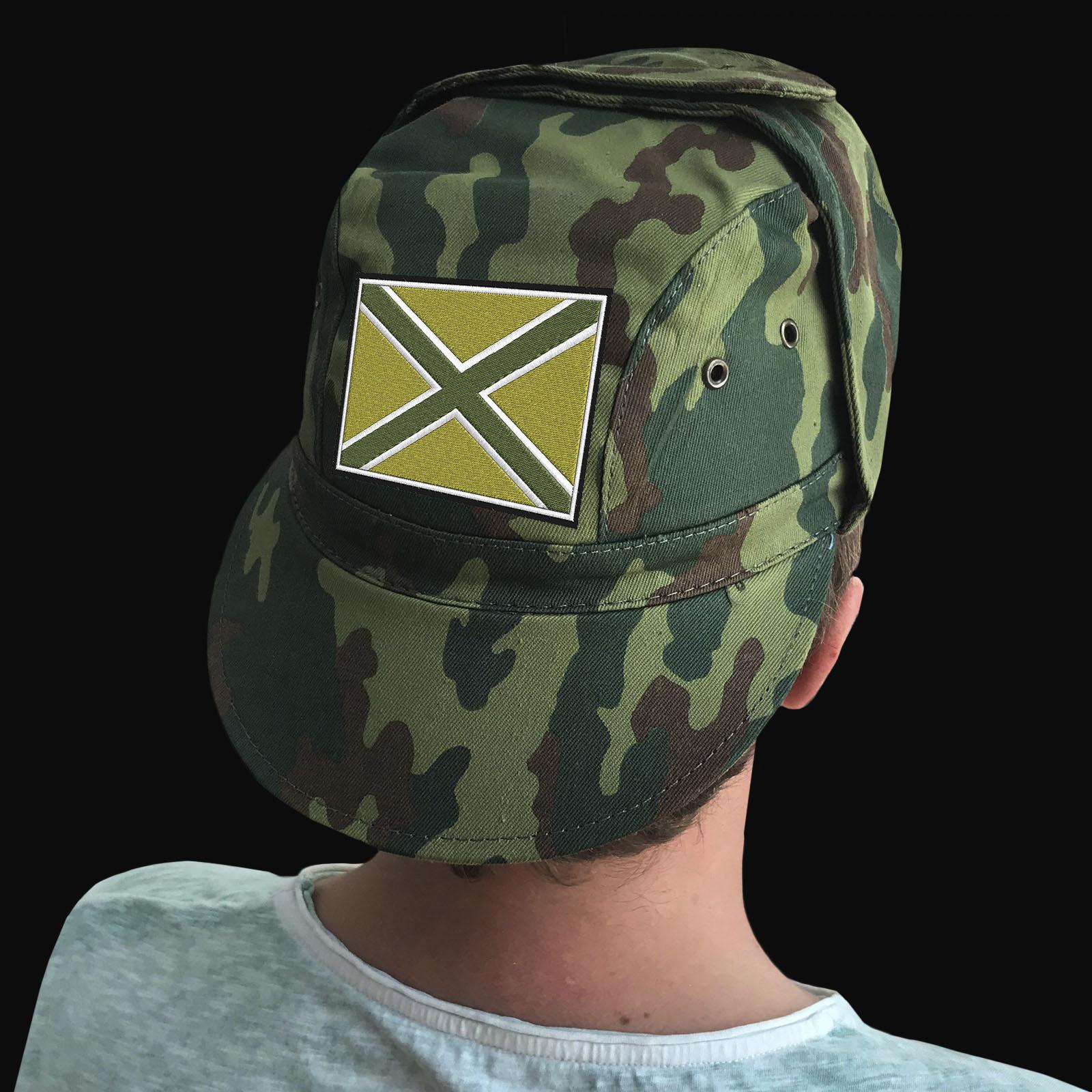 Купить в интернет магазине камуфляжную кепку с эмблемой Новороссии