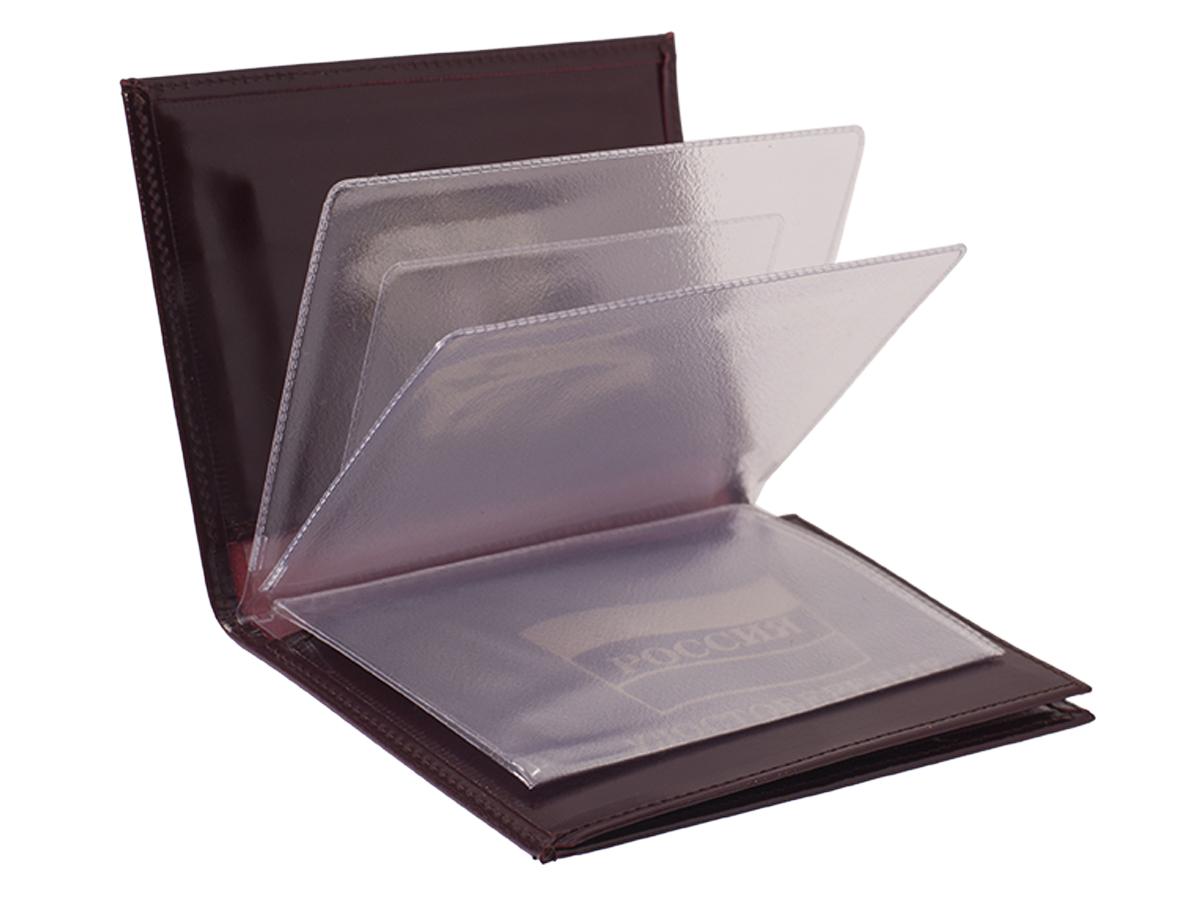 Кожаное портмоне для документов с гербом РФ по лучшей цене