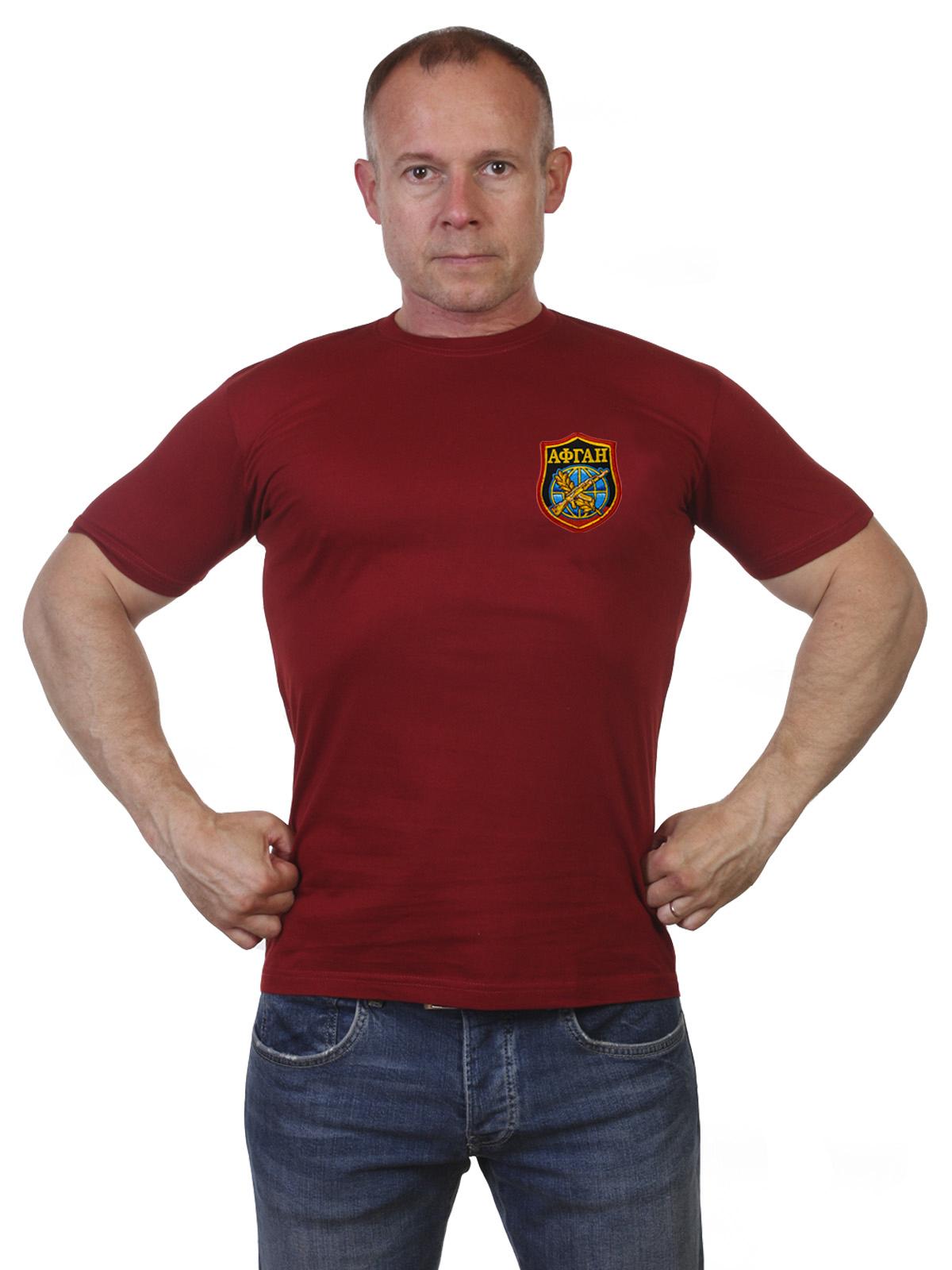 Заказать мужскую футболку с шевроном Афганистан