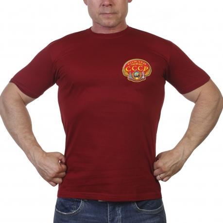 Краповая футболка Рожден в СССР