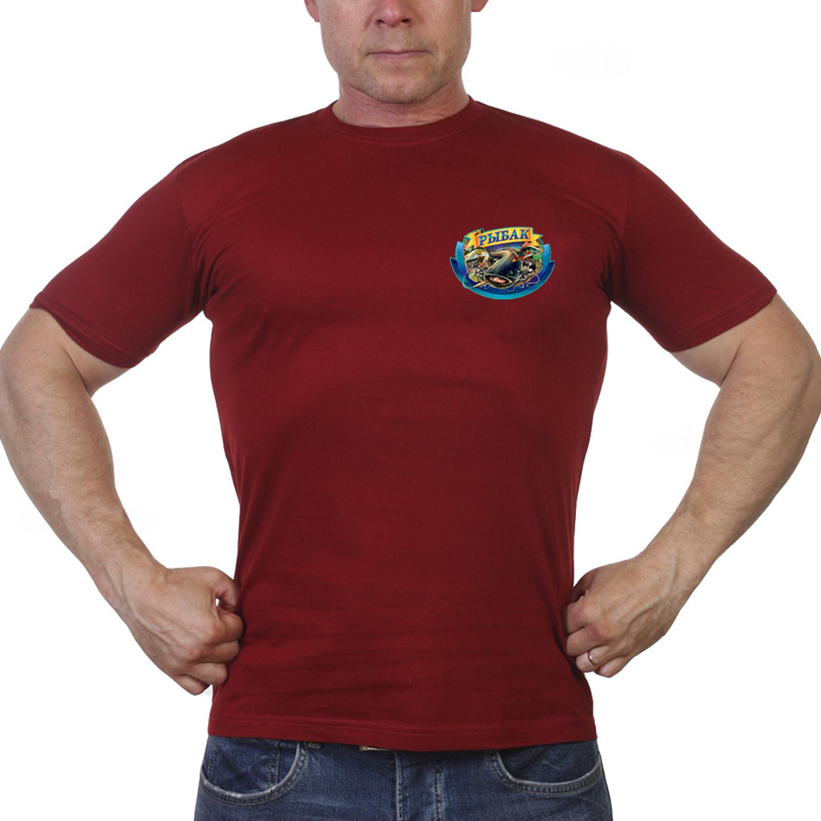 Краповая футболка рыбака