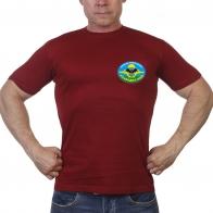 Краповая футболка с эмблемой и девизом разведчиков ВДВ