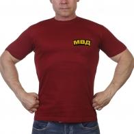 Краповая футболка с шевроном МВД