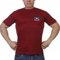 Краповая футболка с шевроном РВСН