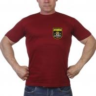 Краповая футболка с термотрансфером Автовойска