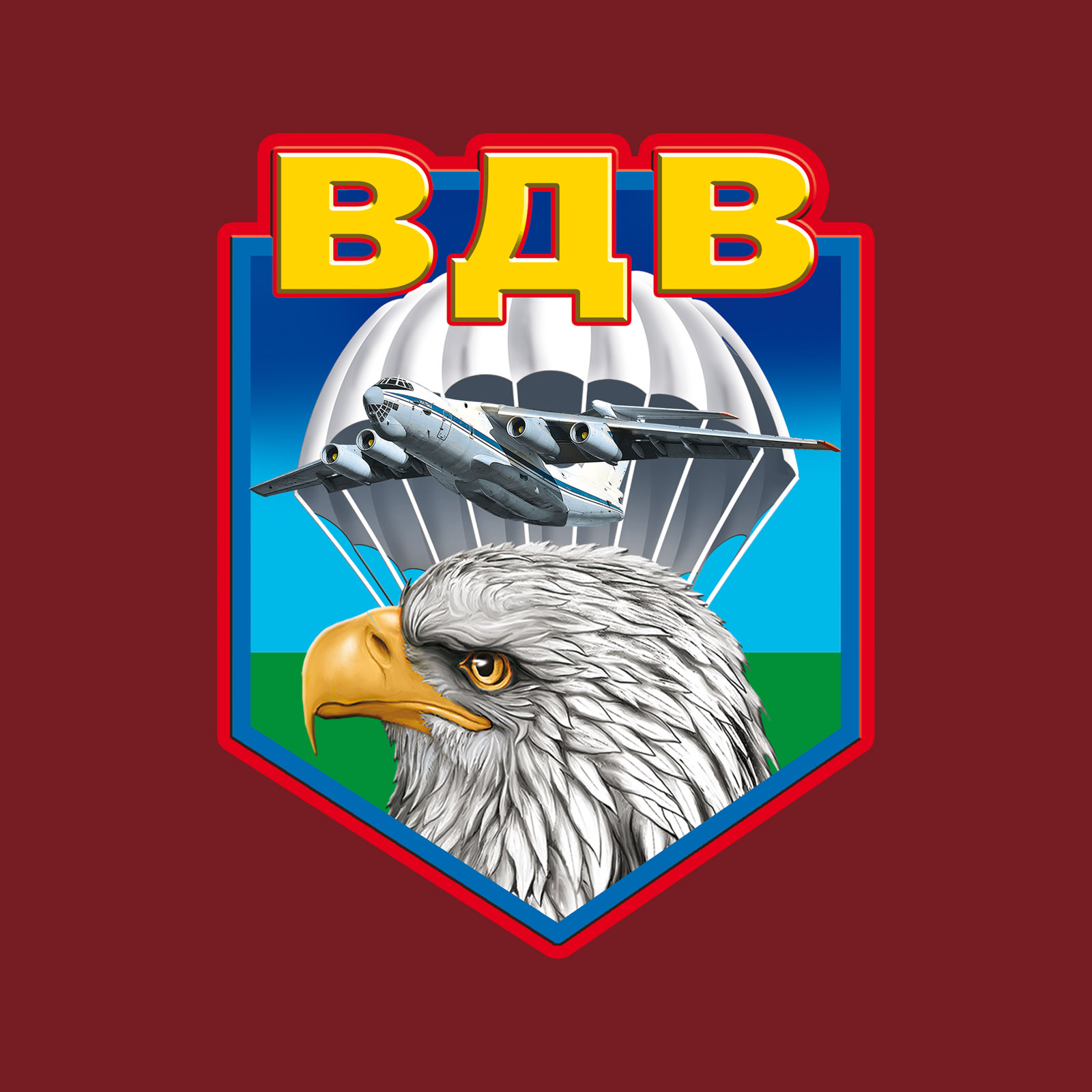 Краповая футболка ВДВ с головой орла