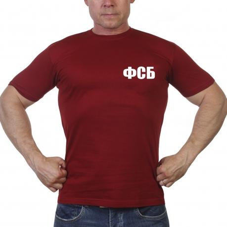 Краповая мужская футболка ФСБ