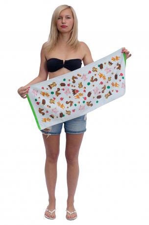 Красивое банное полотенце для девочек и мальчиков.