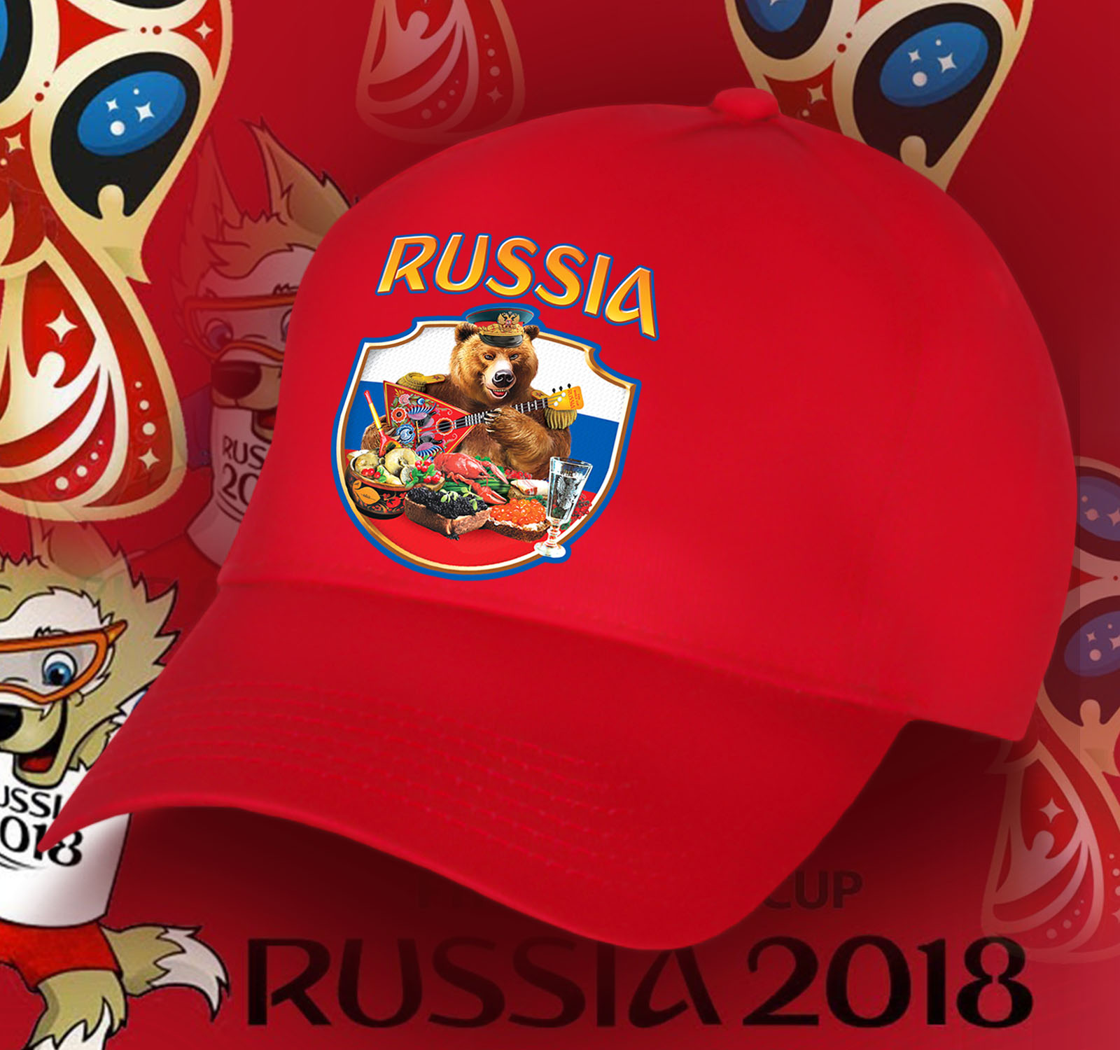 Красная бейсболка фаната России
