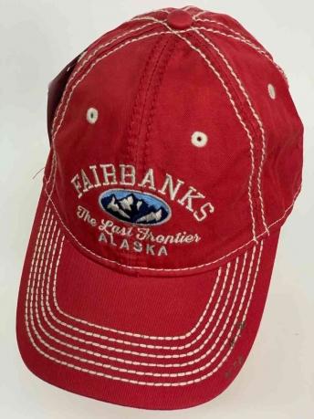 Красная бейсболка FAIRBANKS ALASKA