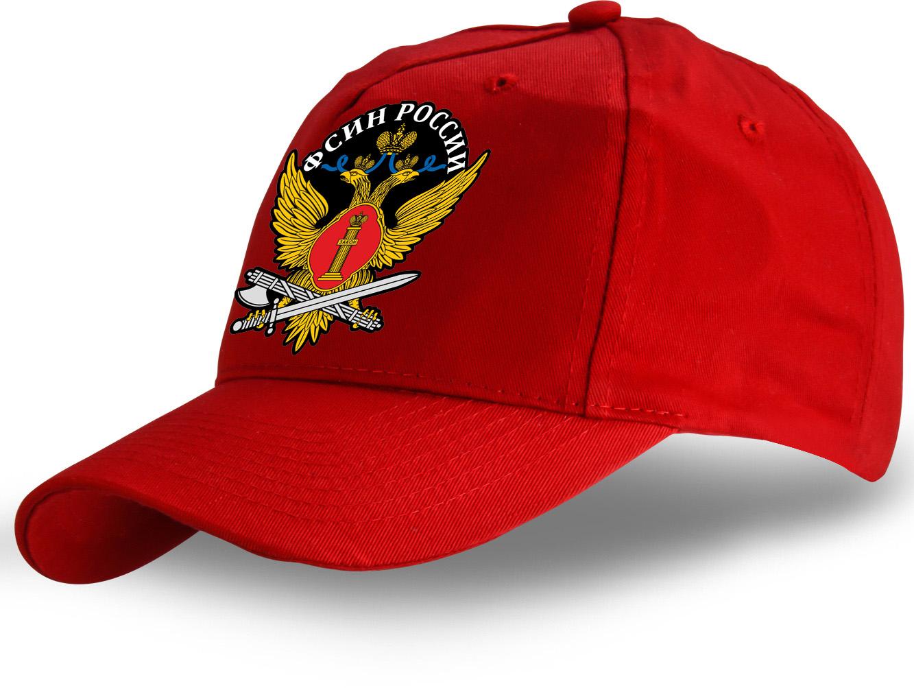 Красная демисезонная бейсболка ФСИН.