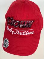 Красная бейсболка Harley-Davidson с крупными надписями