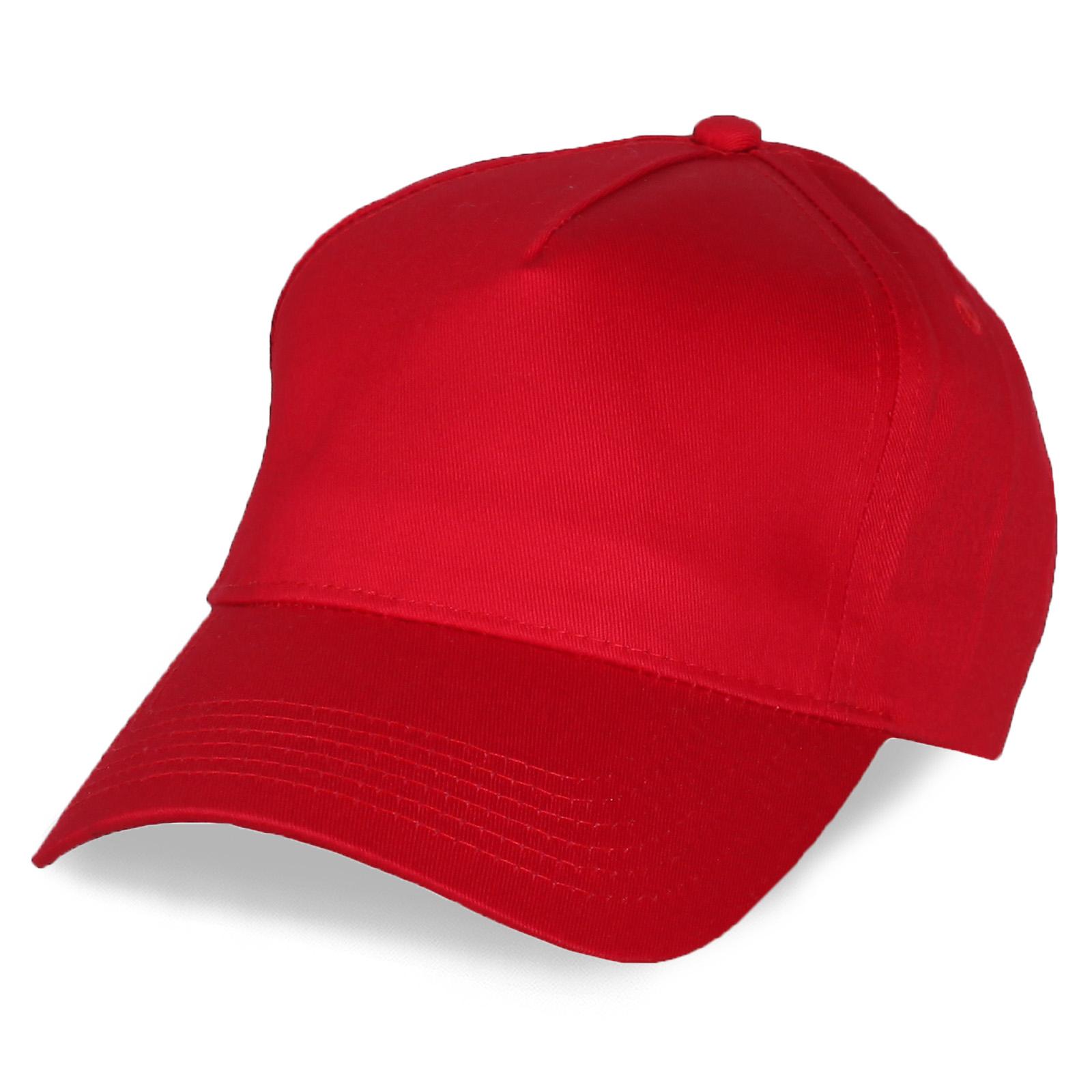 Красная бейсболка под принт изображений
