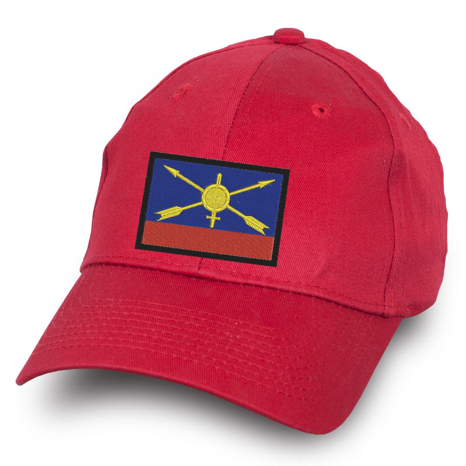 Красная бейсболка РВСН - купить недорого