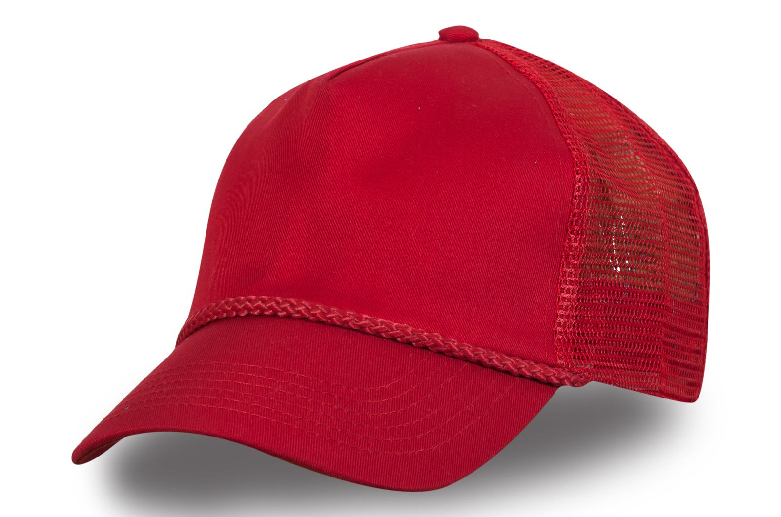 Красная бейсболка с сеткой - купить недорого в интернет-магазине