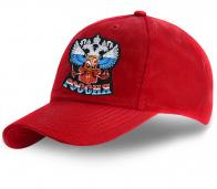 Красная бейсболка с вышивкой Двуглавого орла