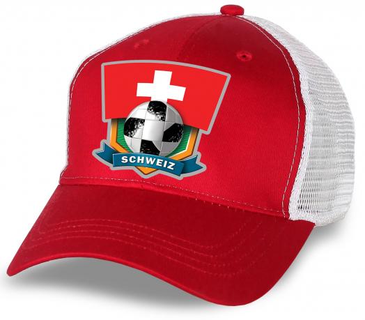 Красная бейсболка Швейцария
