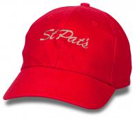 Красная бейсболка St.Pati.