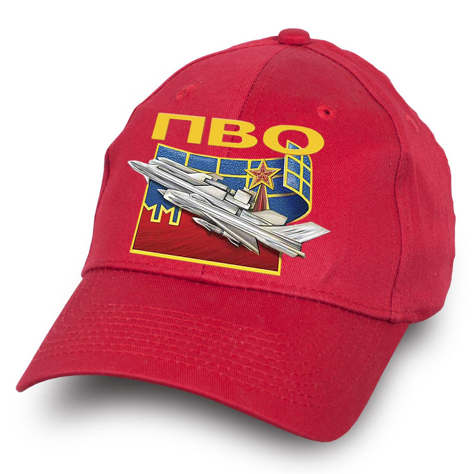 """Красная бейсболка """"Войска ПВО"""" - купить по лучшей цене"""
