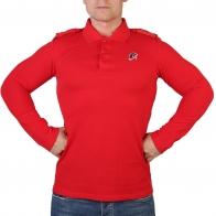Красная футболка поло с эмблемой Юнармии