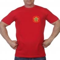 Красная футболка с термотрансфером Афганистан 1979-1989