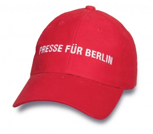 Красная качественная кепка.
