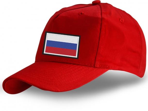 """Красная кепка """"Флаг России"""" - купить по выгодной цене"""