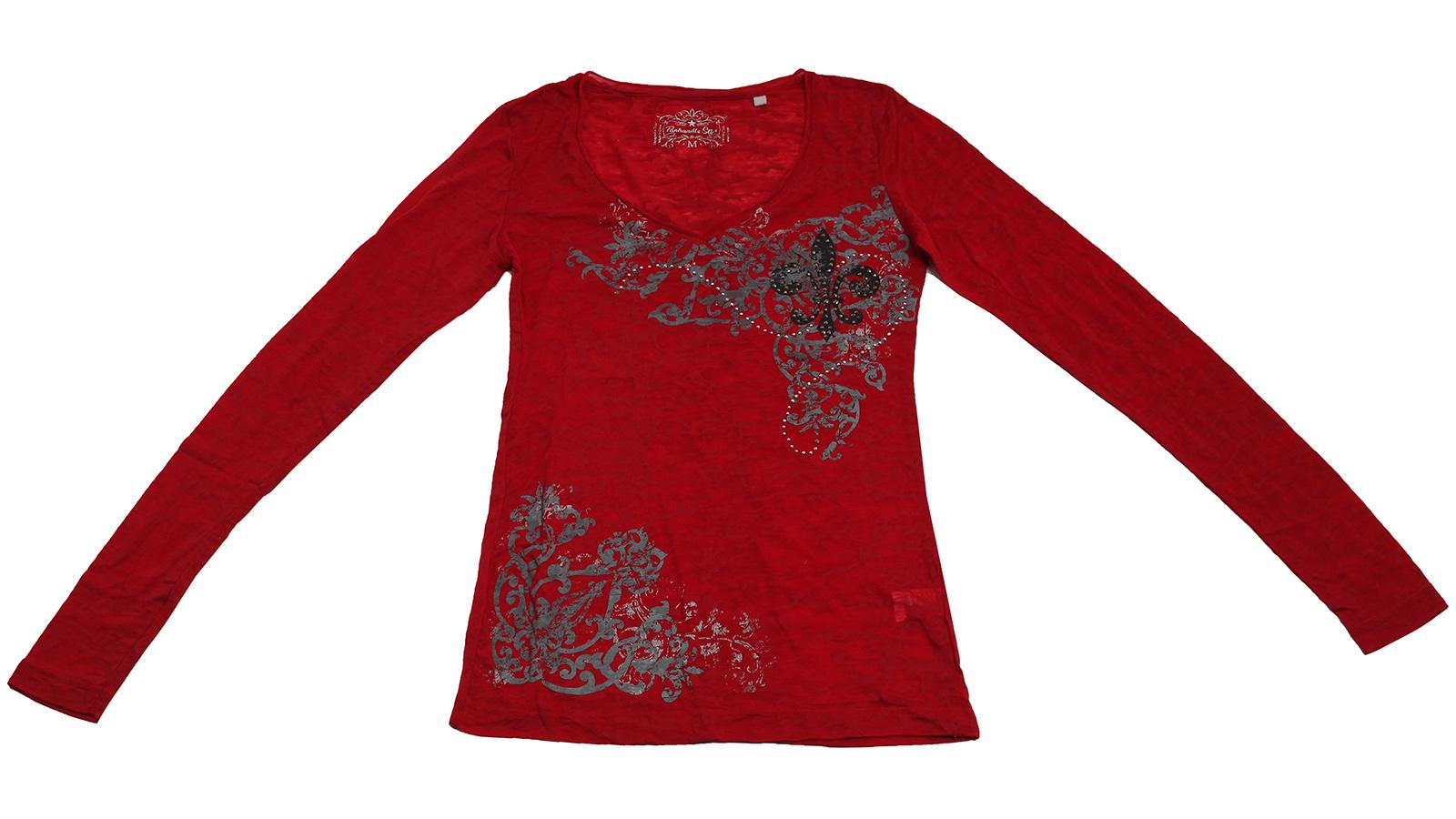 Красная кофточка от Panhandle Slim. Комфортная модель с контрастным принтом