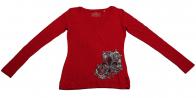 Красная кофточка Panhandle Slim с оригинальным декором. 100% хлопок